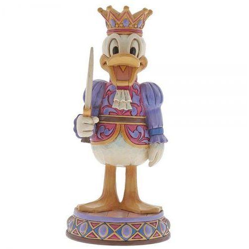 Kolekcjonerski dziadek do orzechów kaczor donald reigning royal (donald duck figurine) 6000948 figurka ozdoba świąteczna marki Jim shore