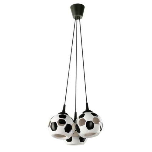 LAMPA wisząca LAMP 651/3 dziecięca OPRAWA zwis piłka nożna kule balls białe czarne (5902622117980)