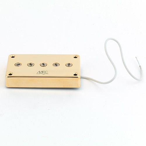 Mec star bass ii 5 string pu, passive, bridge, złoty przetwornik gitarowy