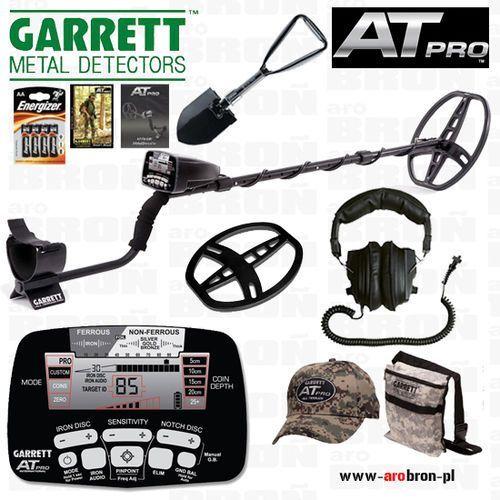 Wykrywacz metalu GARRETT AT PRO + słuchawki + osłona + saperka