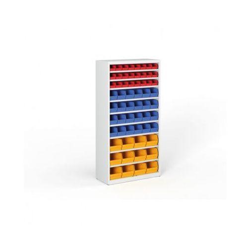 B2b partner Regał z plastikowymi pojemnikami - 1800x920x400 mm, 24xa,14xb,12xc