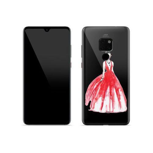 Huawei Mate 20 - etui na telefon Crystal Design - Pastelowa czerwień, kolor czerwony