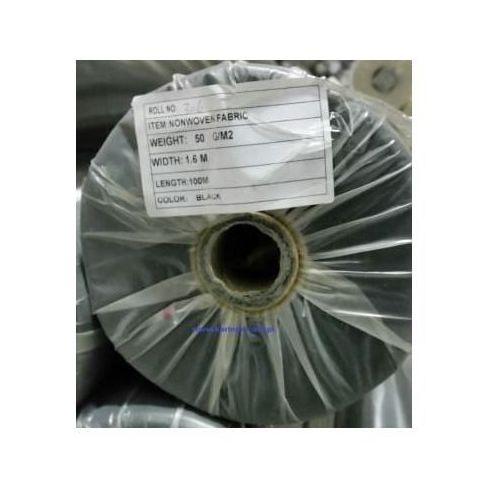 Agrowółknina ściółkujaca PP 50 g/m2 czarna 1,6 x 100 mb. Bez UV Rolka o wadze 8,6 kg., PP 50/160/100/CZ bez UV