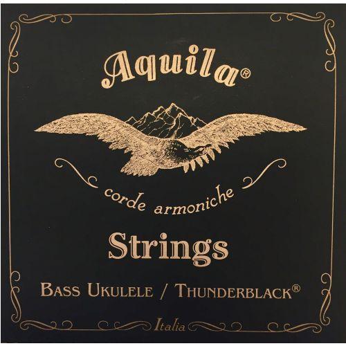 Aquila thunderblack bass struny do ukulele, eadg, 20 scale