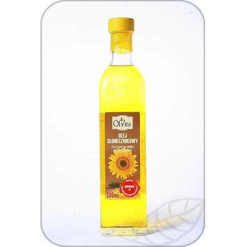 Ol'vita Olej słonecznikowy tłoczony na zimno 500ml - olvita (5907591923150)