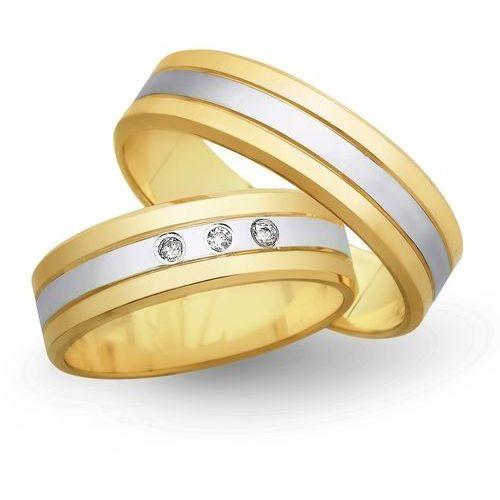 Obrączki z żółtego i białego złota 5mm - O2K/034 - produkt dostępny w Świat Złota