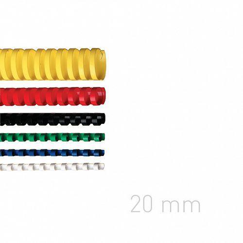 Opus Grzbiety plastikowe o.comb 20mm niebieskie 100szt./op.