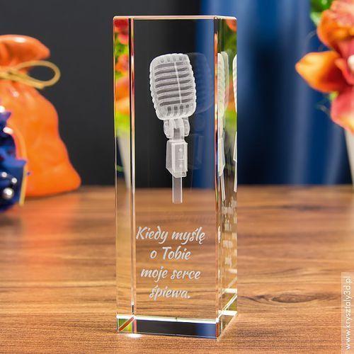 Mikrofon Retro 3D • personalizowany kryształ 3D • GRAWER 3D