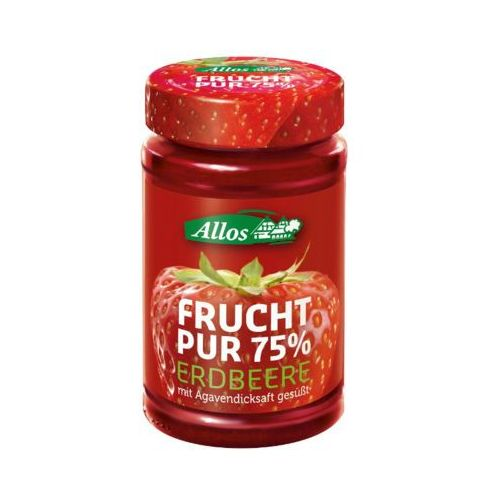 250g mus truskawkowy 75% owoców bio marki Allos