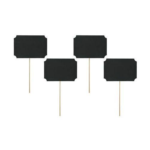 Karteczki na patyczkach czarne - 11 cm x 8 cm - 4 szt. (5901157482112)
