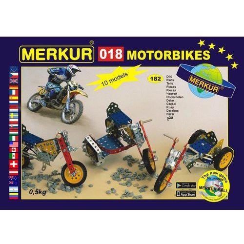 Zestaw 018 Motocykle 10 modeli 182 szt, Merkur z Mall.pl