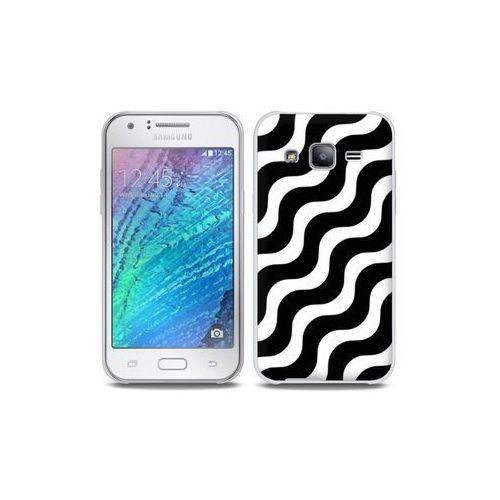 Samsung Galaxy J5 - etui na telefon Full Body Slim Fantastic - biało-czarna fala