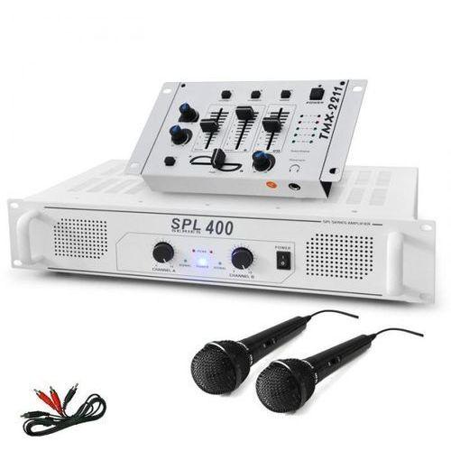 """Zestaw DJ """"DJ-94"""" wzmacniacz PA mikser DJ mikrofon 1200W"""