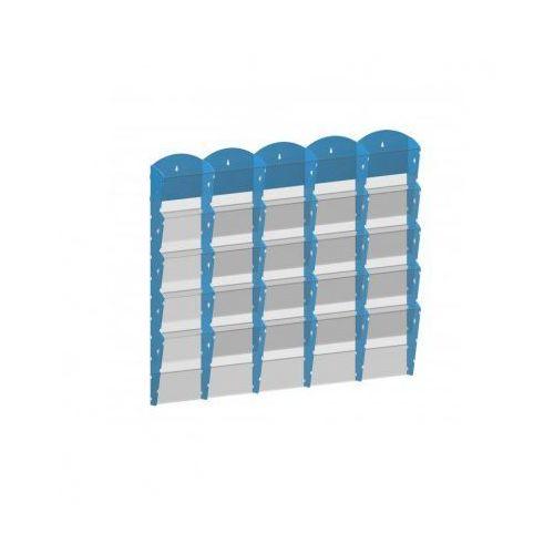 B2b partner Plastikowy uchwyt ścienny na ulotki - 5x5 a5, niebieski