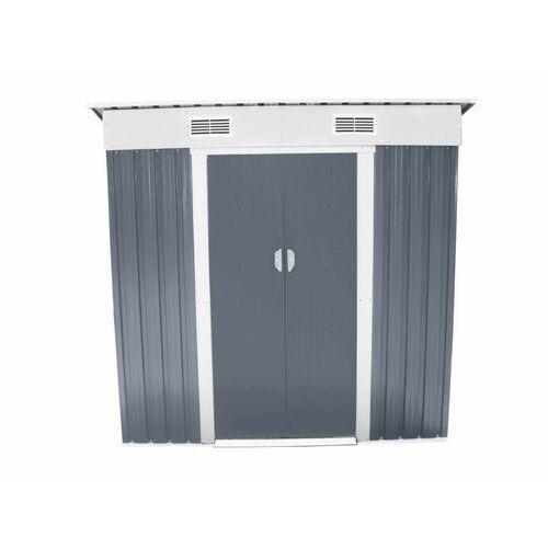 Hecht czechy Hecht 4x6 plus domek ogrodowy na narzędzia ciemnoszary wiata meble ogrodowe - ewimax oficjalny dystrybutor - autoryzowany dealer hecht