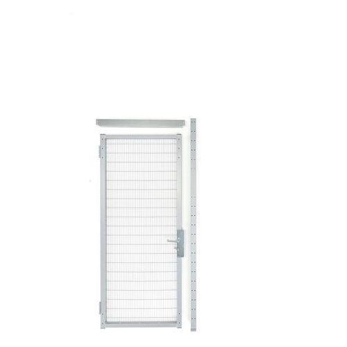 Drzwi do ogrodzeń przemysłowych 900x2200mm zamek cylindryczny Lewy zawias, 31185