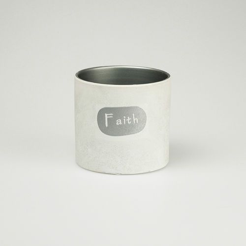 Basic Pebble Pot White Faith wysokość: 12,5 cm 18639-2 - oferta [05de2d71b72184ed]
