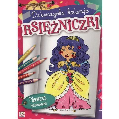 Dziewczynka koloruje Księżniczki + zakładka do książki GRATIS, Aksjomat