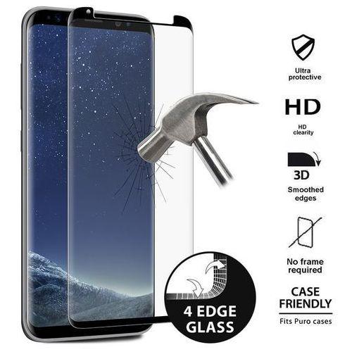 Puro premium full edge tempered glass case friendly - szkło ochronne hartowane na ekran samsung galaxy s8+ (czarna ramka) (8033830193439)