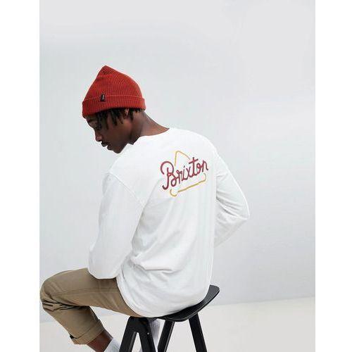 Brixton Newbury Long Sleeve T-Shirt With Triangle Back Print - White