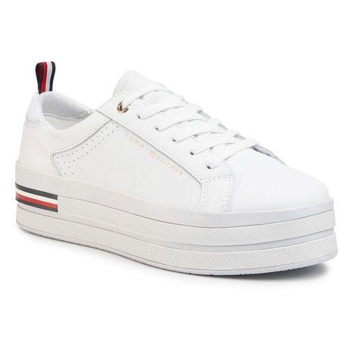 Sneakersy TOMMY HILFIGER - Modern Flatform Sneaker FW0FW04851 White YBS, w 4 rozmiarach