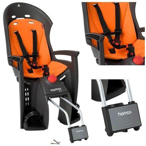 Fotelik rowerowy HAMAX Siesta Orange, kolor czarny