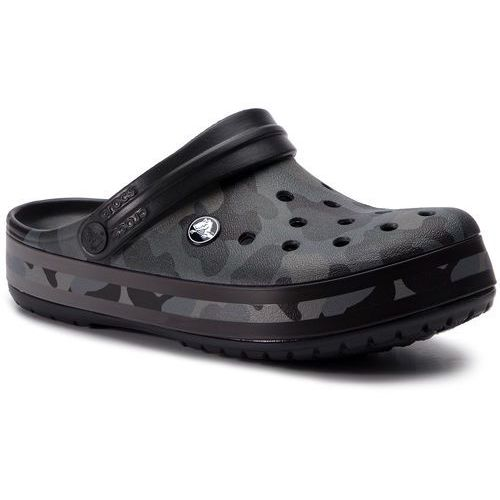 Klapki CROCS - Crockband Seasonal Graphic Clog 205579 Slate Grey/Black, w 2 rozmiarach