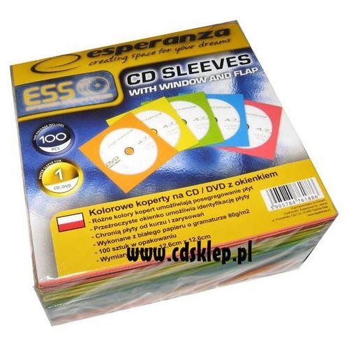 Koperty papierowe kolorowe z okienkiem 1000szt. wyprodukowany przez Esperanza