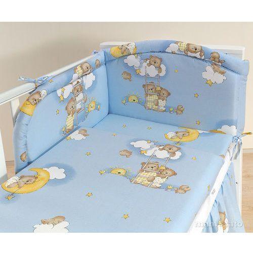 MAMO-TATO pościel 3-el Drabinki z misiami na błękitnym tle do łóżeczka 70x140cm z kategorii komplety pościeli dla dzieci