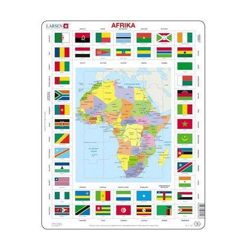 Puzzle MAXI - Mapa Afriky + vlajky/70 dílků neuveden