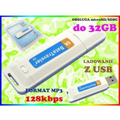 MINI DYKTAFON CYFROWY PODSŁUCH SZPIEG 128kbps MP3 na karty micro SD do 32GB, Sklep Easy-WiFi