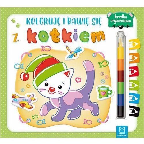 Koloruję i bawię się z kotkiem. Edukacyjna książeczka z naklejkami, praca zbiorowa