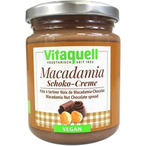 Vitaquell Masło czekoladowe z orzechami macadamia vegan bio 250g -