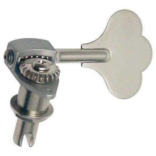 Hipshot hb6 - ultralite bass machine heads, 3/8 in. post, clover leaf key, bass side ″ chromowany klucz gitarowy