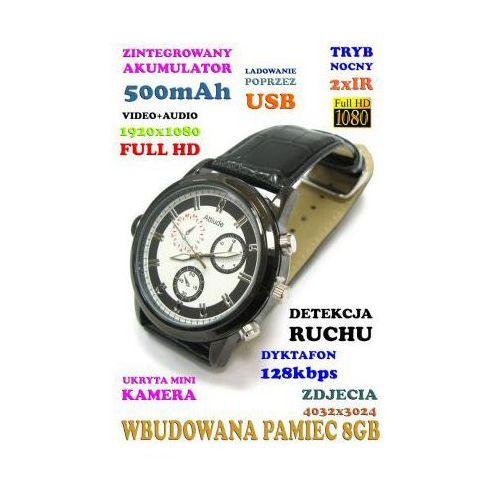 Szpiegowski Zegarek FHD na Rękę (8GB), Nagrywający Obraz/Dźwięk + Dyktafon + Detekcja Ruchu + 2x IR., 590112954879