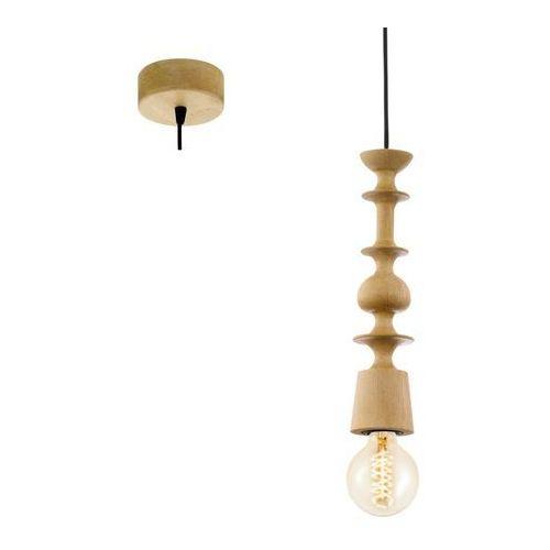 LAMPA wisząca AVOLTRI 49373 Eglo drewniana OPRAWA zwis geometryczne kształty brązowy, 49373