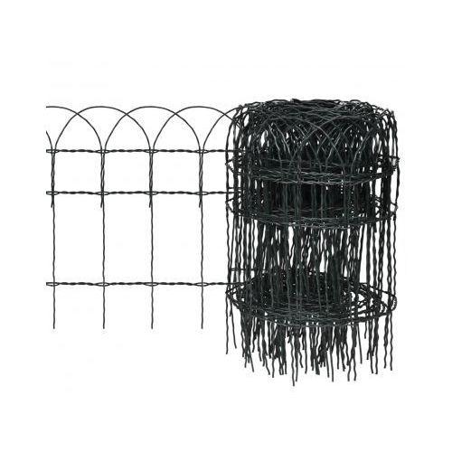 Rozwijane ogrodzenie trawnikowe 10 x 0,4 m ze sklepu VidaXL