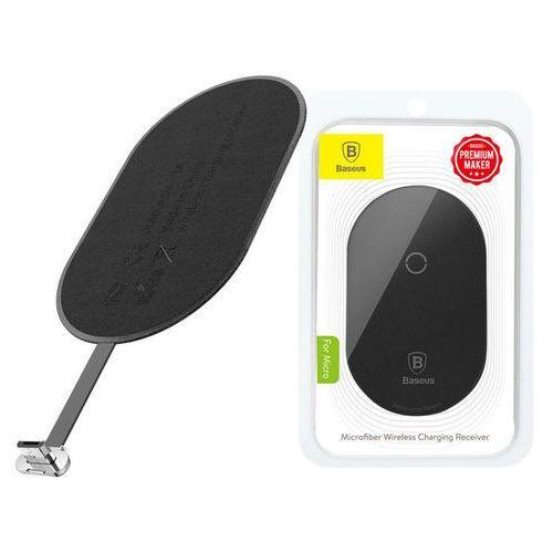 Baseus adapter QI cewka indukcja micro USB black (6953156267756)
