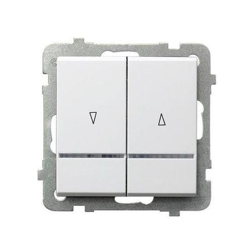 Łącznik żaluzjowy z podświetleniem Biały - ŁP-7RS/m/00 Sonata