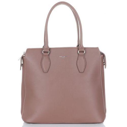 cdc2fd44399f6 Eleganckie torebki damskie ze skóry ekologicznej firmy brudny róż (kolory)  marki David jones 139
