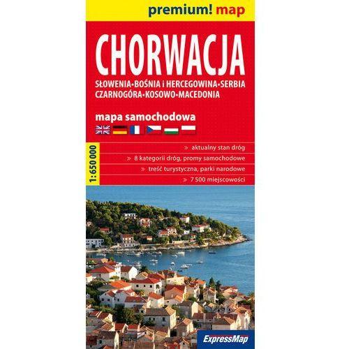 Chorwacja mapa samochodowa 1:650 000, praca zbiorowa