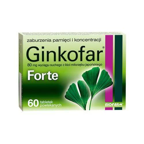 GINKOFAR Forte x 60 tabletek - produkt z kategorii- Pozostałe zdrowie