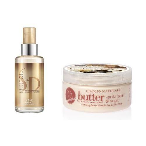 Wella Zestaw pielęgnujący | SP Luxe Oil - Elixir pielęgnujący do włosów 100ml, Masło do ciała z wyciągiem z wanilii 240ml