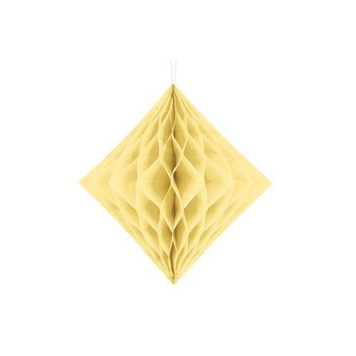 Dekoracja wisząca diament żółty - 30 cm - 1 szt. marki Party deco