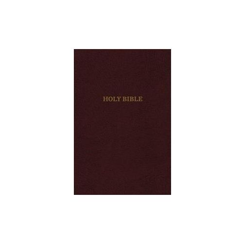 KJV, Thinline Reference Bible, Leather-Look, Burgundy, Red Letter Edition, Comfort Print (9780785215745)