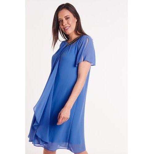 51781cfb9f Niebieska sukienka szyfonowa marki Metafora 425