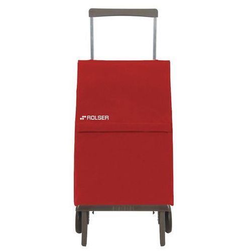 Wózek zakupowy składany Rolser Plegamatic czerwony (wózek na zakupy)