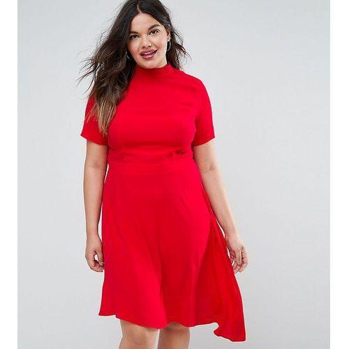 Asos curve mini tea dress with open back - pink