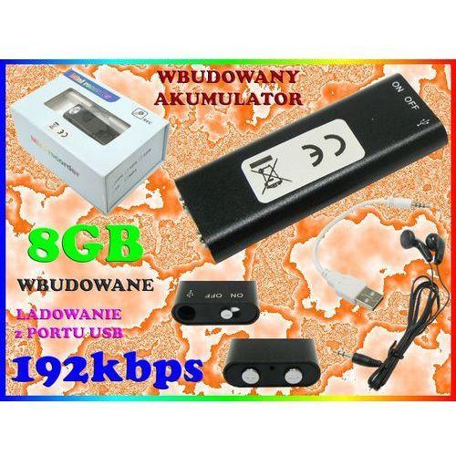 MINIATUROWY DYKTAFON CYFROWY PENDRIVE 192kbps 8GB SŁUCHAWKI W KOMPLECIE, Sklep Easy-WiFi