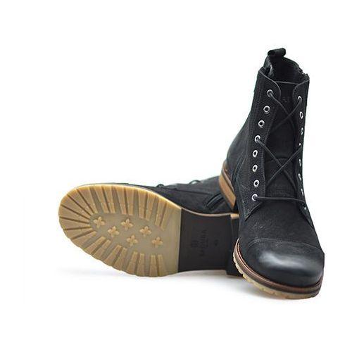 Trzewiki 4553-f czarne nubuk marki Badura